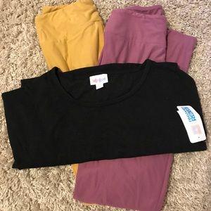 LuLaRoe XS Irma and two OS leggings